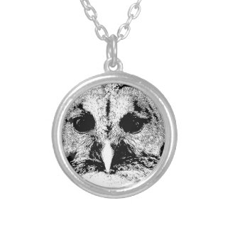 Mrs Barred Owl - Mar 2015 Round Pendant Necklace