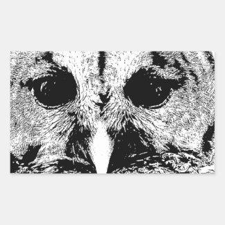 Mrs Barred Owl - Mar 2015 Rectangular Sticker
