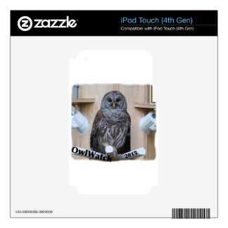 Mrs Barred Owl - OctoBox Nest Skins For iPod Touch 4G
