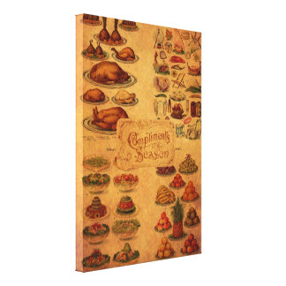 Mrs Beeton's Christmas Feast Canvas Print
