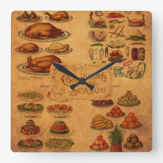 Mrs Beeton's Christmas Feast Round Wallclocks