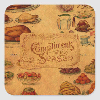 Mrs Beeton's Christmas Feast Square Stickers