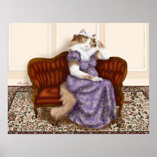Mrs Bennet Cat Poster