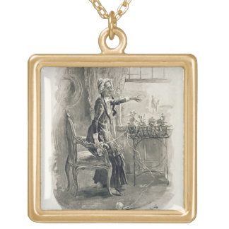 Mrs Betsy Trotwood, from 'Charles Dickens: A Gossi Gold Plated Necklace
