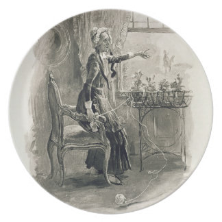 Mrs Betsy Trotwood, from 'Charles Dickens: A Gossi Dinner Plate