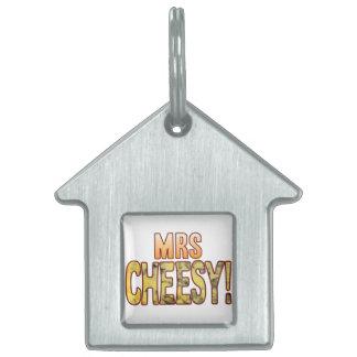 Mrs Blue Cheesy Pet Name Tag