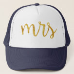 """Mrs Bride Gold Foil Hat<br><div class=""""desc"""">Super cute for the honeymoon Mrs. hat! Great gift for the bride to be in your life!</div>"""