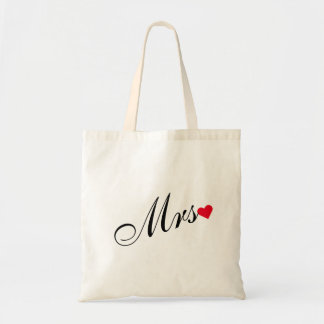 Mrs Bride Newlywed Wedding Bridal Shower Tote Bag
