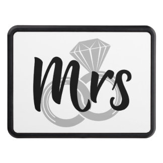 Mrs Bride Wedding Rings Trailer Hitch Cover