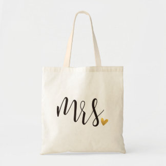 """Mrs."" Bride,Wedding Tote Bag"