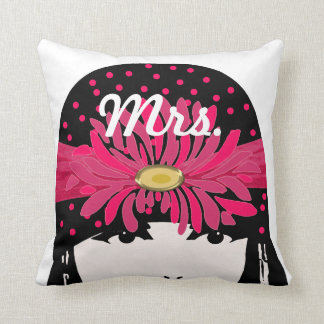 Mrs. Bride's Vintage Roaring 20's Flapper Girl Pillow