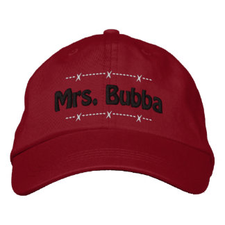 Mrs. Bubba Funny Redneck Nickname Embroidered Baseball Cap