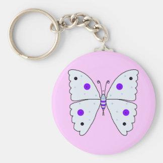 Mrs Butterfly Basic Round Button Keychain