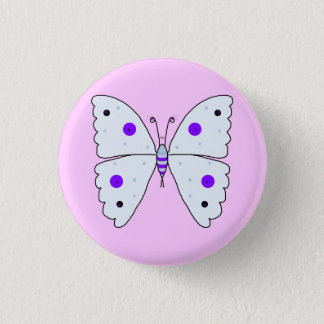 Mrs Butterfly Pinback Button