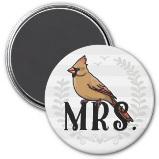 Mrs. Cardinal Mr and Mrs His and Hers Magnet