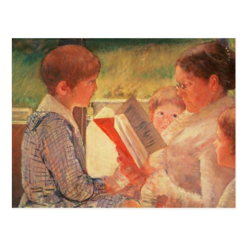 Mrs Cassatt Reading to her Grandchildren 1888 Postcard