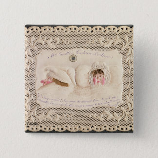 Mrs Caudle's Curtain Lecture, Victorian card from Pinback Button