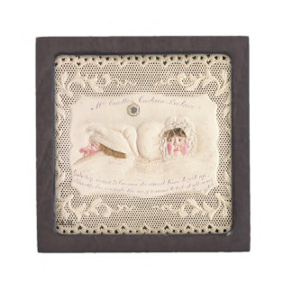 Mrs Caudle's Curtain Lecture, Victorian card from Premium Trinket Box