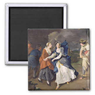 Mrs Cibber (1714-66) as Cordelia, 1755 (oil on can 2 Inch Square Magnet