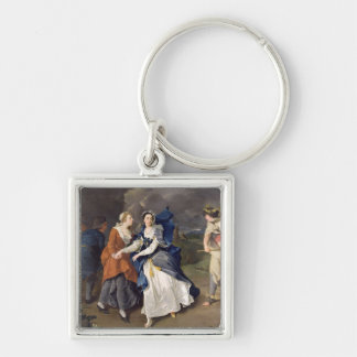 Mrs Cibber (1714-66) as Cordelia, 1755 (oil on can Keychain
