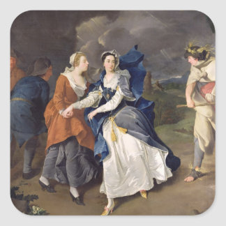 Mrs Cibber (1714-66) as Cordelia, 1755 (oil on can Square Sticker