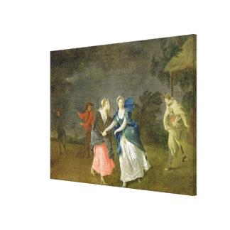 Mrs Cibber as Cordelia, c.1755 (oil on canvas) Canvas Print