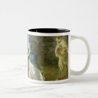 Mrs Cibber as Cordelia, c.1755 (oil on canvas) Two-Tone Coffee Mug