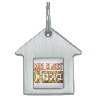 Mrs Classy Blue Cheese Pet Name Tag