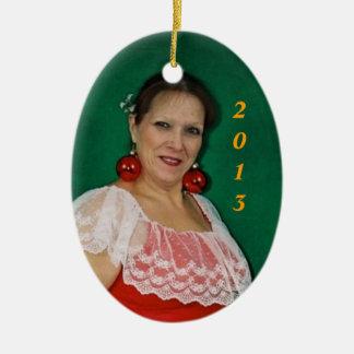Mrs Claus 2013 Ceramic Ornament