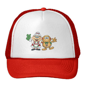 Mrs Claus and Gingerbread man Trucker Hat