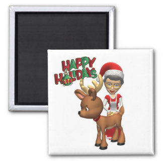 Mrs. Claus and Rudolph Magnet