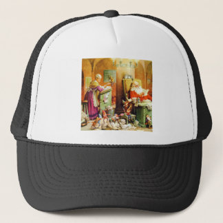 Mrs. Claus and Santa at the North Pole Trucker Hat