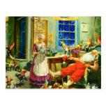 Mrs. Claus and Santa on Christmas Night Postcard