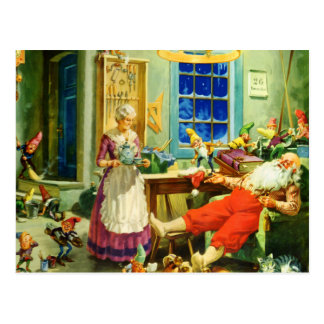 Mrs Claus and Santa on Christmas Night Post Cards