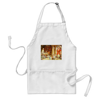 Mrs. Claus and The Elves Bake Christmas Cookies Adult Apron
