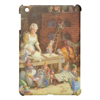 Mrs. Claus and the Elves Bake Christmas Cookies iPad Mini Case