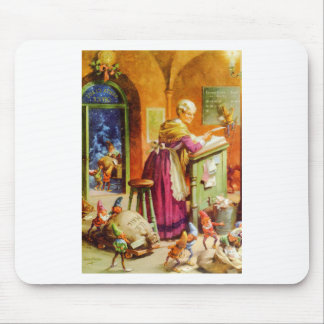 Mrs. Claus and The Elves open Santa's Mail Mouse Pad