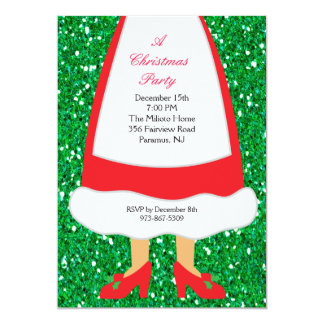 Mrs. Claus Christmas Party Card