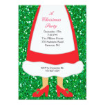 Mrs. Claus Christmas Party 5x7 Paper Invitation Card