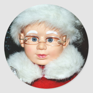 Mrs Claus Classic Round Sticker