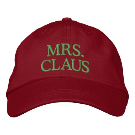 Mrs. Claus Embroidered Baseball Hat