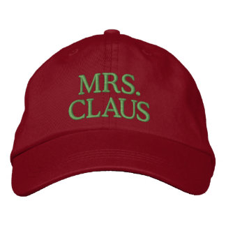 Mrs. Claus Embroidered Hats