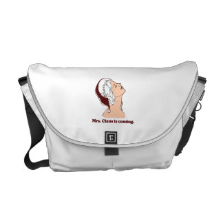 Mrs. Claus is coming Courier Bag