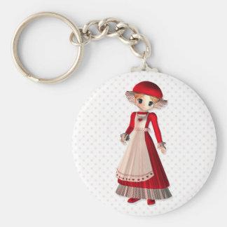 Mrs. Claus Basic Round Button Keychain