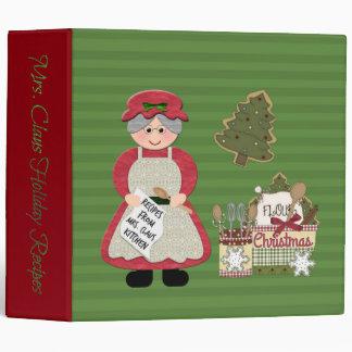 Mrs. Claus Kitchen Holiday Recipes BINDER