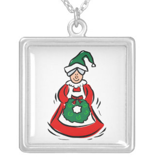 mrs claus necklace