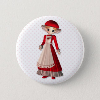 Mrs. Claus Pinback Button