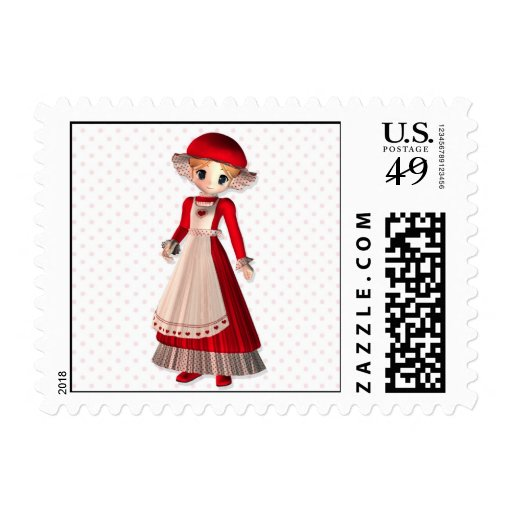 Mrs. Claus Postage Stamps