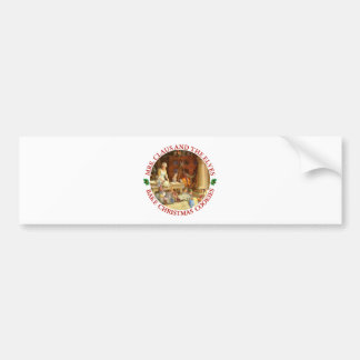 Mrs. Claus & Santa's Elves Bake Christmas Cookies Bumper Sticker