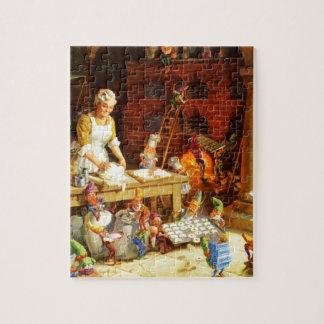 Mrs. Claus & Santa's Elves Bake Christmas Cookies Jigsaw Puzzle